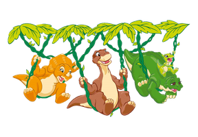 The Land Before Time Dino Swing Time by DigiPonyTheDigimon