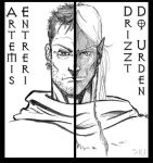 Artemis and Drizzt by lordkai