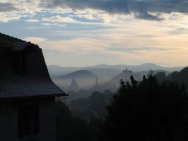 Le Puy in the mist by Ludo38