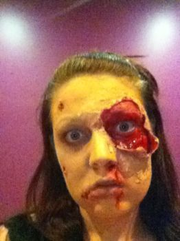 zombie make up more so by Damaged-4-Lyf