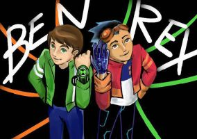 Ben 10 vs Generator Rex by Reinrassic-the-5th