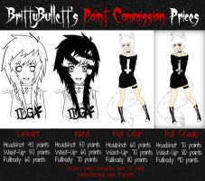 (NEW) Point Commission Price Sheet by BrittyBullett