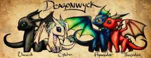 Dragonwyck Dragons3 Paper by MaidenOfTheBlade