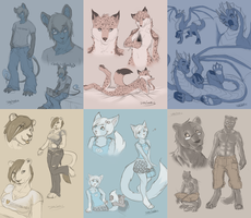 Sketchpages Commission 3 by Shalinka