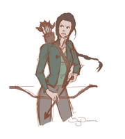 Katniss by SkyDominic