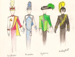 Hogwarts House Uniforms by TheRedBandit