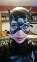 Catwoman Cowl Makeup Test by MonocleComplex