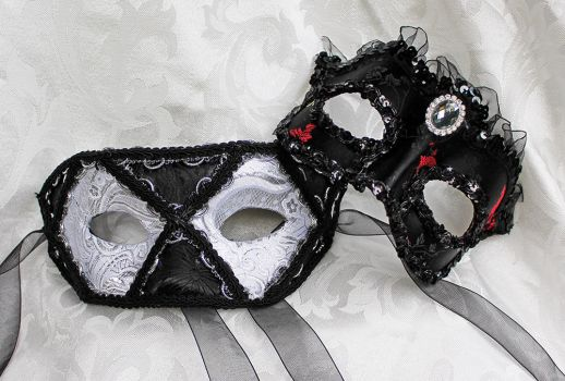 Stark and lovely masquerade masks by DaraGallery