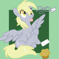 Derpy Worlds Best Pony and Mail Mare by LittleDooker