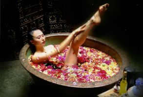 flower bath by SAMLIM