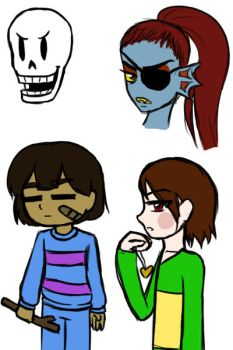 Undertale doodles by I-love-dolphins