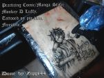 Monkey D Luffy tattooed by zippi44