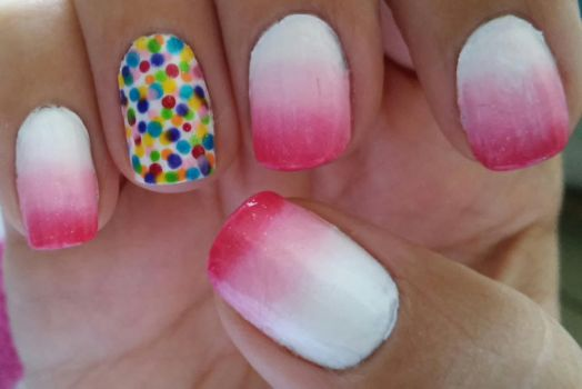Sprinkles and Frosting Nail Art by wolfgirl4716