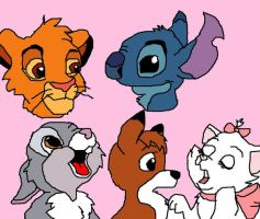 my fave disney characters by tigertaiga