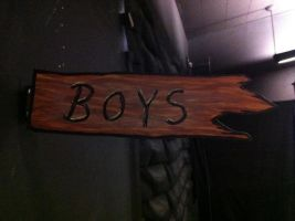 """Boys"" Sign for Straight Camp by tubanome"