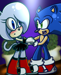 Contest Entry! .:Velocity and Sonic:. by 1XxAcexX1