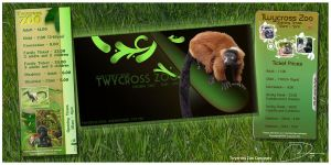 Twycross zoo flyer concepts by robinweatherall