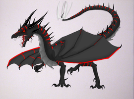 -Request- Battled Dragon by dragongirl00