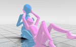 Couple Sitting Pose 1 DL by YTNeroK