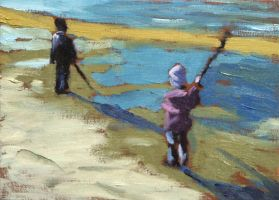 Kids With Sticks Study by maccski