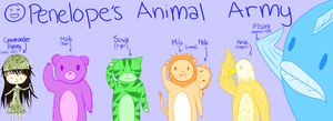 Penelope's Animal Army by joiachi
