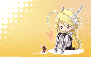 Chibi Lambda-11 Wallpaper by Hellknight10