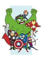Avengers Q flats colored by kehchoonwee