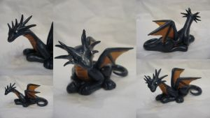 Dragon sculpture by assassin-kitty