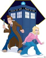 The Doctor and Rose by Duncecap-Dan