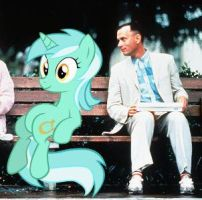Sitting Lyra With Forrest Gump by BronyDuelist
