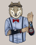 Dapper Wolf by blueToaster