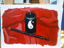 YingYang light and a pen by Chibeliboo