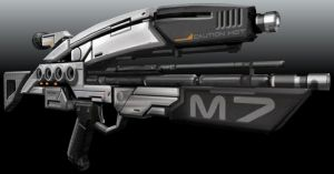 assault rifle mass effect by scifilicious