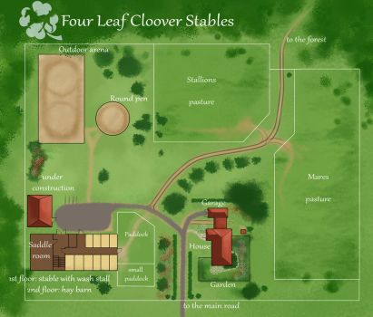 Four Leaf Clover Stables +map+ by Aomori