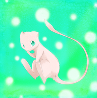 Mew by blackdragonkokoryu