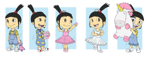 Despicable Me: Agnes' Wardrobe by forte-girl7