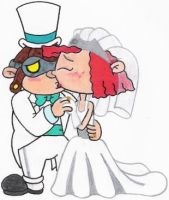 Hoagie and Fanny's Wedding Kiss by nintendomaximus