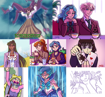 Sailor Moon: Redraw Meme by Yamino