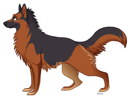 German Shepherd by Bonz847