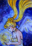 ACEO: Sailor Moon - Serenity by pink-gizzy