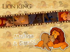 Mufasa and Sarabi | TLK - Wallpaper by Howie62