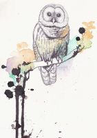 Owl Tattoo design by silentheartache