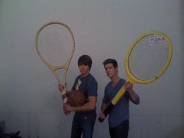 James and Logan Tennis Racket by NaruHinaForever101