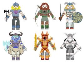Norse Mythology Minimates 2 by Chazwinski