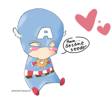Cap Loves Bagels by greenteaduck
