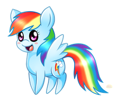 Chibi RainbowDash by Spice5400
