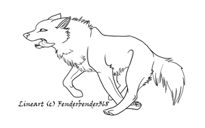 .:Wolf Run Lineart:. by fenderbender368