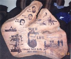 NED KELLY GUM TABLE by WOODEWYTCH
