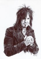 Nikki Sixx / Motley Crue - Pen and Ink - Portrait by NateMichaels