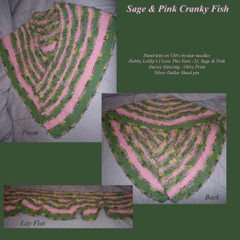 Sage and Pink Cranky Fish by ChibiMethos
